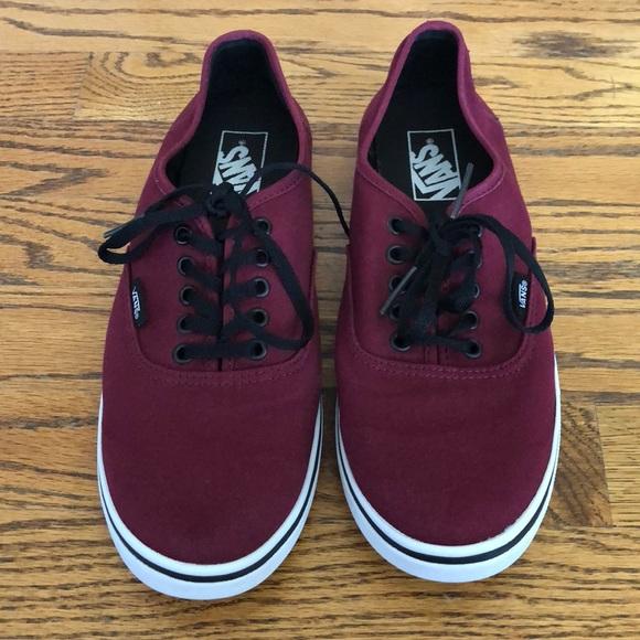 e61aef5de50b16 Vans Shoes - Vans Authentic Burgundy sneakers